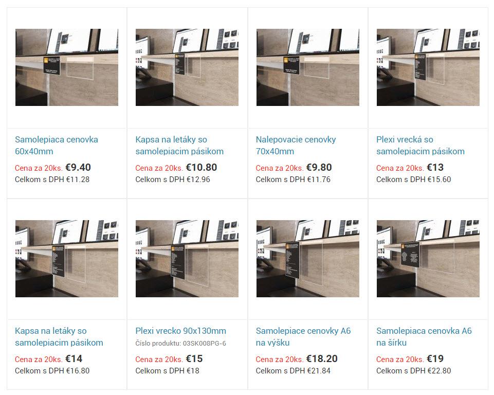 Plexi cenovky(cenovky) na Slovensku. Výroba cenoviek a ich typy